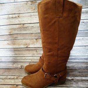 Camel colored riding boots